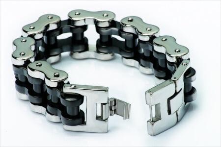 Stainless Steel Biker Motorcycle Chain Bracelet for Men