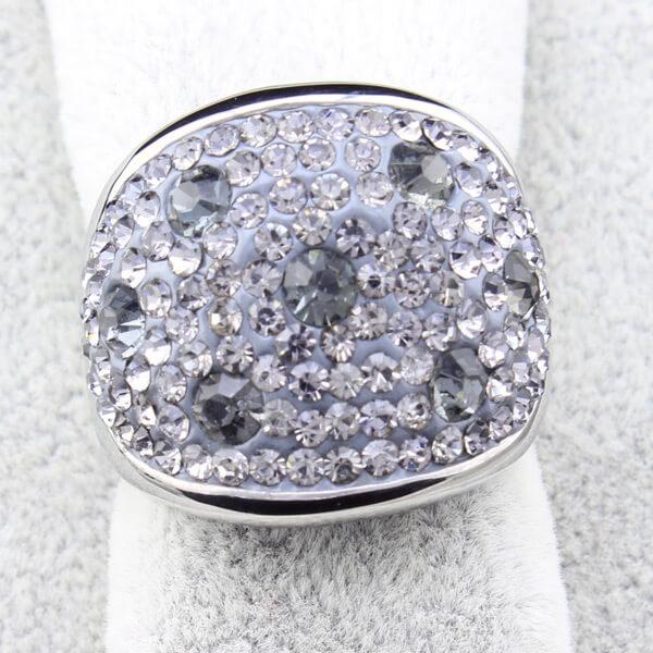 elegant clear crystal rings