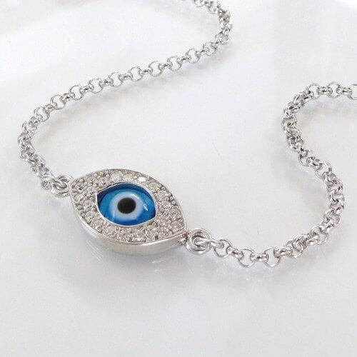 lucky evil eye bracelet elebrity style sterling