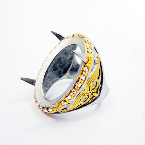 titanium rings gemstone