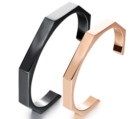 bar cuff bracelets gold plated finish