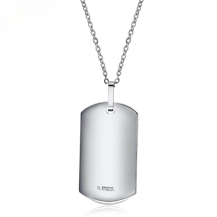 Plain mens jewelry dog tag pendant stainless steel necklace plain mens jewelry dog tag pendant stainless steel necklace quality fashion jewelry manufacturer supplier china aloadofball Gallery
